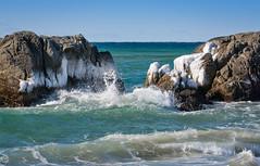 Cold Waves (Ranveig Marie Photography) Tags: ogna holmasanden jæren norge norway ice sea ocean wave waves bølger sjø is vinter winter rogaland hå
