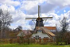 Holland Landscape Mill (JaapCom) Tags: jaapcom landscape landed dutchnetherlands clouds mill moulin molino molen wapenveld