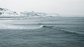 La côte des basques enneigée