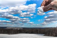 Staging Clouds (tonyajbender) Tags: sky clouds surreal landscape perspective field farm blue white fun photochallenge2018 trevorcarpenterphotochallenge winter spring snow