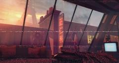 "Cyberpunk Paris 2077 - ""Italie XIII"" - (viktoriaelizabetha) Tags: cyberpunk synthwave paris vaporwave design interior skybox second life sl"