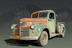 Rocky Mountain Way - 1941 General Motors Pickup (Brad Harding Photography) Tags: 1941 41 gmc generalmotorscorporation truck pickup utility antique chrome rustic rust crusty colorado golden cruisenight rockys rockymountains rockymountainway