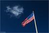 American Land (geka_photo) Tags: gekaphoto schönberg schönbergerstrand schleswigholstein deutschland flagge starsandstripes himmel wolke blau weis