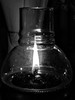 Lamp (markb120) Tags: lamp illuminator shine light glow glass candle flame fire blaze lightbw