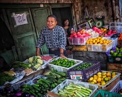 Jakarta! (-Faisal Aljunied - !!) Tags: 17mm olympusem5 indonesia jakarta batik eyecontact market streetphotography faisalaljunied
