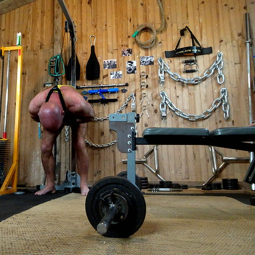 people man weight training home gym