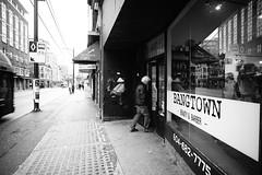 """Bangtown"" (Eric Flexyourhead) Tags: vancouver canada britishcolumbia bc downtown westpender penderstreet city urban cityscape streetscape streetscene streetphotography bangtown salon hairsalon barber barbershop monochrome blackwhite bw sonyalphaa7 voigtlandercolorskopar21mmf4 voigtlander 21mmf4"