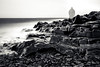in and out of the picture (Port View) Tags: fujixe3 blackrock novascotia canada 2018 winter coast coastal coastline shore tide tidal rock fundy fundyshore bayoffundy beach rocky drizzle rain fog wind windy ghost ghosting blackandwhite bw monochrome mono le longexposure landscape basalt seascape selfie