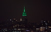 The Empire State Building is lit green in honor of the 2018 Masters Tournament. (apardavila) Tags: esb empirestatebuilding hoboken manhattan nyc newyorkcity skyline skyscraper