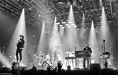We Turn The Speakers Up 'Til They Break (peterphotographic) Tags: photo13042018165142edsefexwm apple iphone 6s ©peterhall wembley ssearena wembleyarena northlondon london england uk britain arcadefire winbutler réginechassagne nik silverefexpro2 blackandwhite blackwhitephotos bw monochrome livemusic live gig concert lightshow rock rocknroll music musician singer guitarist keyboard spotlight stage weturnthespeakersuptiltheybreak everythingnow