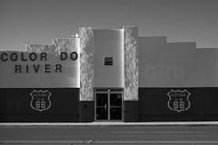 (el zopilote) Tags: 500 needles california mojavedesert architecture street townscape signs art murals smalltowns powerlines us66 lumix gf1 milc m43 lumixg20mmf17asph bw bn nb blancoynegro blackwhite noiretblanc digitalbw bndigital schwarzweiss monochrome