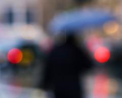 """Sharpness is a bourgeois concept"" (the mr gnu) Tags: londonstreetphotography blur man rain city themrgnu"