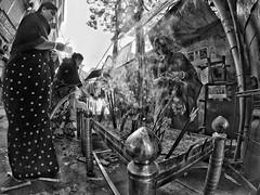 Devotion (Shahrear94) Tags: smoke devotion women worship candles light shadow bnw blackandwhite dhaka bangladesh shakrain puja distort wide flicker trending daylight contrast foggy moment memoirs capture sunny up scented documented