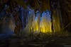 Yellow/blue icicles (kentkirjonen) Tags: canon 80d sweden sverige dalarna ue explore utforska icicles is istappar formations formationer water vatten cold winter vinter snow snö kallt gas tunnel yellow blue gul blå foto fotoutmaning
