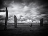 The Stones of Stenness 2 (Feldore) Tags: orkney stone circle stones stenness islands archaeology feldore mchugh em1 olympus 1240mm ancient scotland scottish moody atmospheric clouds person walking huge