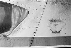 Abandoned Aztec-2 (dave_stobie) Tags: film olympus om1n 35mm plane aeroplane pipper aztec abandoned aviation cockpit oxygen old blackandwhite grain primelens om rivets curtain