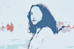(Mishifuelgato) Tags: pintura deseo pena tristeza alicante nikon d90 50mm 18 photography portrait paint color blue red