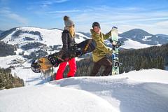 Snowboarder im Naturpark Almenland (Naturpark Almenland) Tags: almenland naturpark steiermark oststeiermark urlaub alm teichalm sommeralm winter wintersport natur