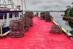 traps (taszee63) Tags: tasmania risby cove pier traps fishermans wharf hdr macquarie harbour 3xp red ship trawler water