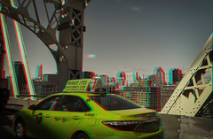 New York, New York (DDDavid Hazan) Tags: newyork newyorkcity ny nyc queens queensborobridge taxi cab gentlemensclub advertising architecturecity cityscape bridge traffic anaglyph 3d 3danaglyph 3dstereophotography redcyan redcyan3d stereophotography stereo3d streetphotography