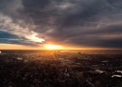 Wakey-wakey, Kalamazoo (bill.d) Tags: dji djispark kalamazoocounty michigan aerialphotography drone flying goldenhour kalamazoo morning outdoor sunrise winter unitedstates us pano panorama hdr