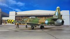 "1:72 Lockheed F-94B ""Starfire"", aircraft 'FA 088' (ex USAF Bu. No. 52-0088) of the 340th Mira ""Flying Foxes"", 111th Combat Wing, Hellenic Air Force (Πολεμική Αεροπορία, Polemikí Aeroporía); Nea Anchialos AFB, 1961 (Whif/Heller kit) (dizzyfugu) Tags: 172 model kit lockheed f94 f94b starfire interceptor radar nato greece 340th mira flying foxes 111th combat wing hellenic air force πολεμική αεροπορία polemikí aeroporía nea anchialos afb 1961 sea paint scheme fs 34079 34102 30219 modellbau whif whatif heller dittyfugu fictional aviation"