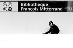 In music (pascalcolin1) Tags: paris13 homme man musique music métro subway mitterrand casque headset blanc white photoderue streetview urbanarte noiretblanc blackandwithe photopascalcolin canon canon50mm 5omm