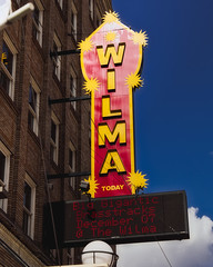 The Wilma (I. M. Pist) Tags: blue montana cinema theater movie film motion picture neon sign marquee pop corn