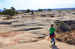 On The Slickrock Trail (Joe Shlabotnik) Tags: november2017 sue hiking justeverett canyonlandsnationalpark proudparents nationalpark utah everett violet 2017 canyonlands afsdxvrzoomnikkor18105mmf3556ged