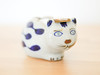 Cat Tape Dispenser (.godo) Tags: etsy vintage cat ceramic porcelain stoneware pottery kitty blue white blauwdelft delftware office supplies craftroom craft room homedecor kitsch figurine statue elesva bluewillow french country japan 70s cobalt unique handpainted otagiri