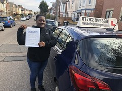 Massive congratulations to Monde Mbullai passing her practical test on her first attempt!!  www.leosdrivingschool.com