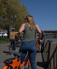 Rent A Bike (Scott 97006) Tags: woman female lady rider bike bicycle rented sightseeing