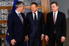 President Tusk meets Eurogroup and ECB Presidents (europeancouncilpresident) Tags: europeanunion eurogroup europeancouncil mariodraghi donaldtusk mariocenteno meeting europa europeancentralbank ecb