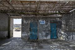 Light & Shadow Play (_aires_) Tags: aires iris wovenbamboomats wovenmatsforroof doors door bluedoors geometric boat canoneos5dmarkiv canonef2470mmf28liiusm lagramaditacasma casma casmaperu