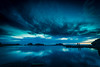 Monday Blues (Vic H Miranda) Tags: longexposure explore outdoor d810 nikon reflection bluehour moody sunset sky clouds pool serene shore water usa california sutrobaths bayarea sanfrancisco