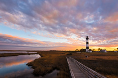 Bodie lighthouse sunset (Theresa Rasmussen) Tags: bodieislandlighthouse cape hatteras national seashore bodie island sunset outer banks obx sound
