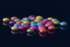 Lentilky - chocolate drops (PeterFineart) Tags: lentilky chocolate drops sweet sweetie taste choc colours food d3400