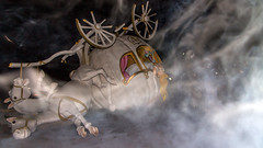 the accident of cinderella (bilderkombinat berlin) Tags: ⨀2015 banksy dismaland eu art england somerset sculpture fog accident cinderella exhibition bemusementpark