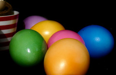 (M a r i S à) Tags: easter eggs colorful colors blackbackground stilllife happyeaster lowkey light dimlight