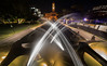 Intersecting arcs (OzzRod) Tags: pentax k1 laowa12mmf28zerod night lights starbursts fountain jets spray movement civicpark cityhall newcastle australia dailyinmarch2018