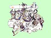 993 GT1 Engine On Box drawing 2018_3_24 (wbaiv) Tags: porsche 993 gt1 le mans 1996 32 litre twin turbo flat 6 airtoair intercooler midengined 962 technology behind 911 drivers seat drawing partially disassembled motor removed from car racing pit