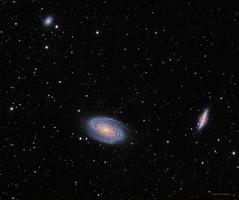 M81-M82 (DocRX) Tags: m81 m82 bodes galaxy cigar astronomy astrophysics night stars nebulosity pixinsight takahashi fsq106ed mach1 gto qsi lodestar astrodon astro sky space universe galassia sigaro notte stelle spazio nuit cosmos