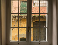 700 € (Ioannis Chrisakis) Tags: chrisakis city italy rome via margutta window inside old view architectural wall glass
