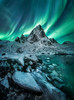 Phantoms' Waltz (JKboy Jatenipat :: Travel Photographer) Tags: aurora northern light night wonder norway lofoten mountain peak ice winter landscape reflect cold nature outdoor amazing arctic astrophotography photography star