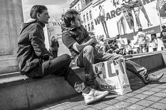 The Real Action Men (Sjaco Manuputty) Tags: street streetphotography streets streetshot actionmen actionman action shopping meirantwerpen antwerp antwerpen belgië belgium bnw blackandwhite people man male men