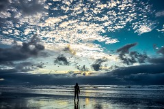 That's me standing right there at Cannon Beach..  Took it with a smart remote on Sony A7ii (sayanomi) Tags: alonetime landscape oregoncoast oregon pacificnorthwest pnw cannonbeach ocean beach