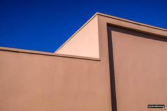 Pink Wall (smellerbee) Tags: minimalism minimalist pink blue artdeco napier hawkesbay nz newzealand sky cloudless angles