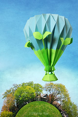 Eco Balloon Above Green Little Planet (Katrin Ray) Tags: ecoballoonabovegreenlittleplanet oriland origami おりがみ 折り紙 paperdesign origamibyyuriandkatrinshumakov orilandballoonride hotairballoon paperback paper design orilandcom paperart noglue yuriandkatrinshumakov torontoplanet sky light skyline littleplanet photoshop planetization polarcoordinates digimagic painting digiart texture textures texturebyme vintagetexture dreamscapesoftoronto withrowpark greektown toronto ontario canada katrinray canonphotography canon eos rebel t6i 750d
