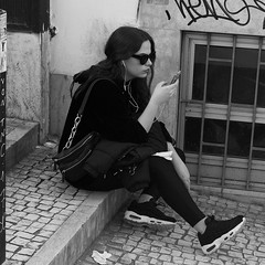 Listening music and photographing (pedrosimoes7) Tags: lisbonshappening bicas lift ascensordabica lisbon po portugal