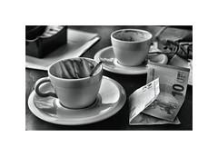Not a lot for your £'s these days ! ! (CJS*64) Tags: florence italy cjs64 craigsunter cjs palazzopitti nikon nikond7000 d7000 dslr city blackwhite bw blackandwhite whiteblack whiteandblack mono monochrome cups euros coffee coffeebreak